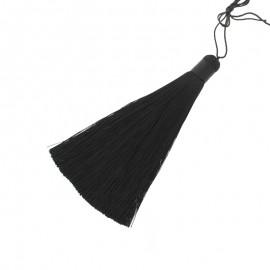 120 mm Polyester pompom - Black Harmonie