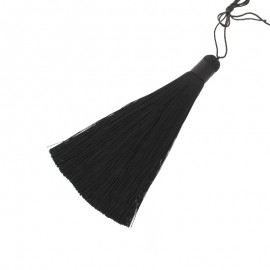 Pompon polyester Harmonie 120 mm -  noir