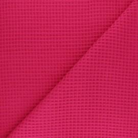 Tissu piqué de coton nid d'abeille - fuchsia x 10cm