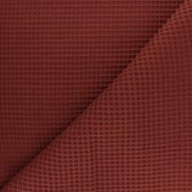 Waffle stitch cotton fabric - fuchsia x 10cm