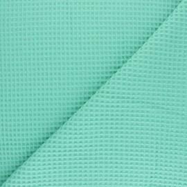 Tissu piqué de coton nid d'abeille - rose clair x 10cm
