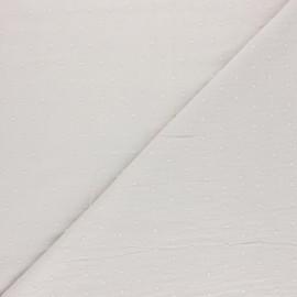 Tissu Plumetis coton - brouillard x 10cm