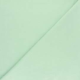 Plumetis Cotton Fabric - pastel green x 10cm