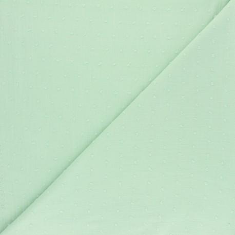 Plumetis Cotton Fabric - fog x 10cm