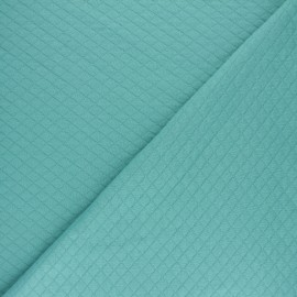 Quilted jersey fabric Diamonds 10/20 - Aqua x 10cm