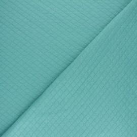 Tissu jersey matelassé losanges 10/20 - Aqua x 10cm