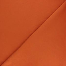 Plain french terry fabric - pumpkin x 10cm