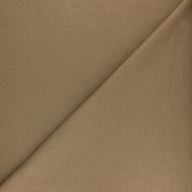 ♥ Coupon 190 cm X 156 cm ♥ Plain french terry fabric - taupe
