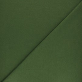 Plain french terry fabric - moss x 10cm