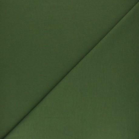 Plain french terry fabric - taupe x 10cm