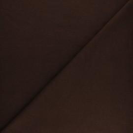 Plain french terry fabric - chocolate x 10cm