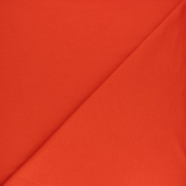 ♥ Coupon 30 cm X 156 cm ♥ Plain french terry fabric - orangey-red