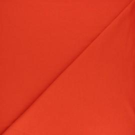 Tissu sweat léger uni - Capucine x 10cm