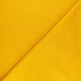 Tissu jersey matelassé losanges 10/20 - Moutarde x 10cm