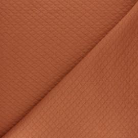 Tissu jersey matelassé losanges 10/20 - Vieux rose x 10cm