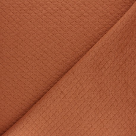Quilted jersey fabric Diamonds 10/20 - Old pinkx 10cm