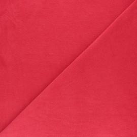 Tissu éponge jersey - rose clair x 10cm