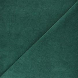 Tissu éponge jersey - bleu houle x 10cm