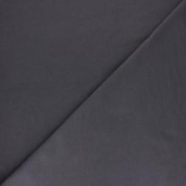 Tissu sweat molletonné uni - Noir x 10cm