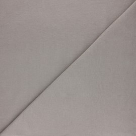 Plain sweatshirt fabric - Dark grey x 10cm