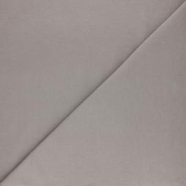 Tissu sweat molletonné uni - Gris foncé x 10cm