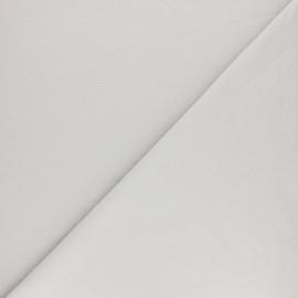 Tissu sweat molletonné uni - Gris souris x 10cm