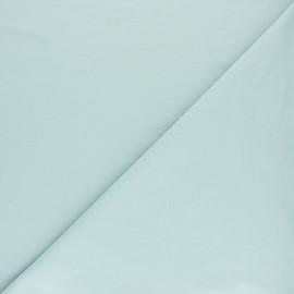 Tissu sweat molletonné uni - Bleu ciel x 10cm