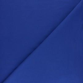 Tissu sweat molletonné uni - Bleu marine x 10cm