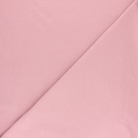 Tissu sweat molletonné uni - Aubergine x 10cm