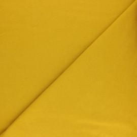 Tissu sweat molletonné uni - Jaune mimosa x 10cm
