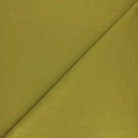 Tissu sweat molletonné uni - Moutarde x 10cm