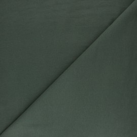Tissu sweat molletonné uni - Avocat x 10cm