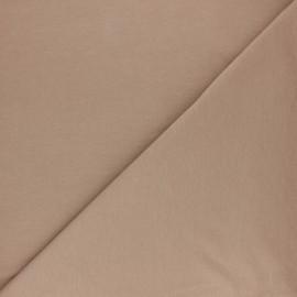 Tissu sweat molletonné uni - Vert pin x 10cm
