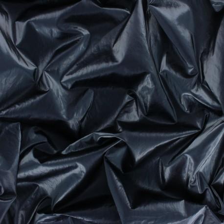 Tissu vinyl froissé brillant - vert de gris x 10cm