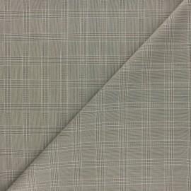 Tissu polyviscose élasthanne Checks - bleu marine x 10cm