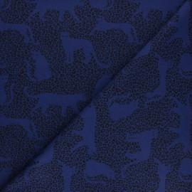 Tissu sweat léger molletonné Léo - sable x 10cm