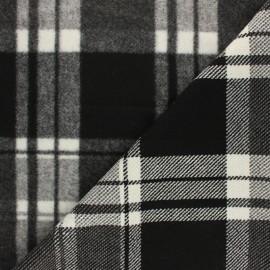 Tissu Drap manteau Montréal - noir/blanc x 10cm