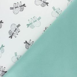 Softshell fabric - Grey cherry x 10cm