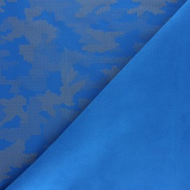 Reflective softshell fabric - royal blue Equalizer x 10cm