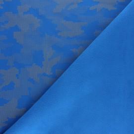 Tissu Softshell Réfléchissant Equalizer - bleu royal x 10cm