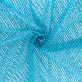 Tissu filet - bleu x 10cm