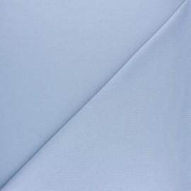 Tissu interlock uni - bleu ciel x 10cm