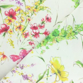 Polycotton fabric extra wide (280cm) - White Torka x 40 cm