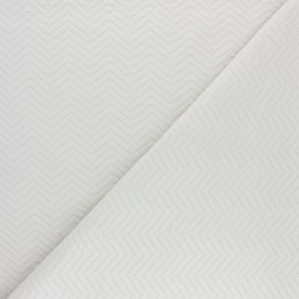 Herringbone Quilted jersey fabric - Navy blue x 10 cm