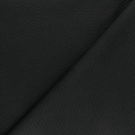 ♥ Coupon 30 cm X 160 cm ♥ Herringbone Quilted jersey fabric - black