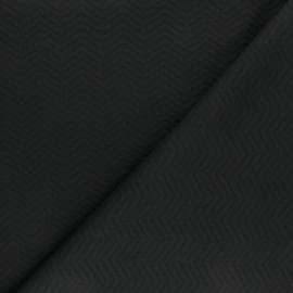Tissu Mind the Maker jersey matelassé chevron - noir x 10 cm