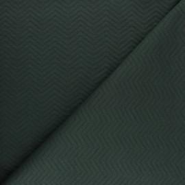 Tissu Mind the Maker jersey matelassé chevron - vert pin x 10 cm