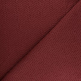 Herringbone Quilted jersey fabric - Pine green x 10 cm