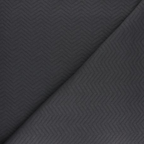 Herringbone Quilted jersey fabric - red x 10 cm
