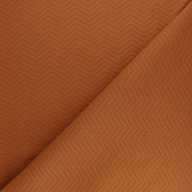 Herringbone Quilted jersey fabric - rust x 10 cm